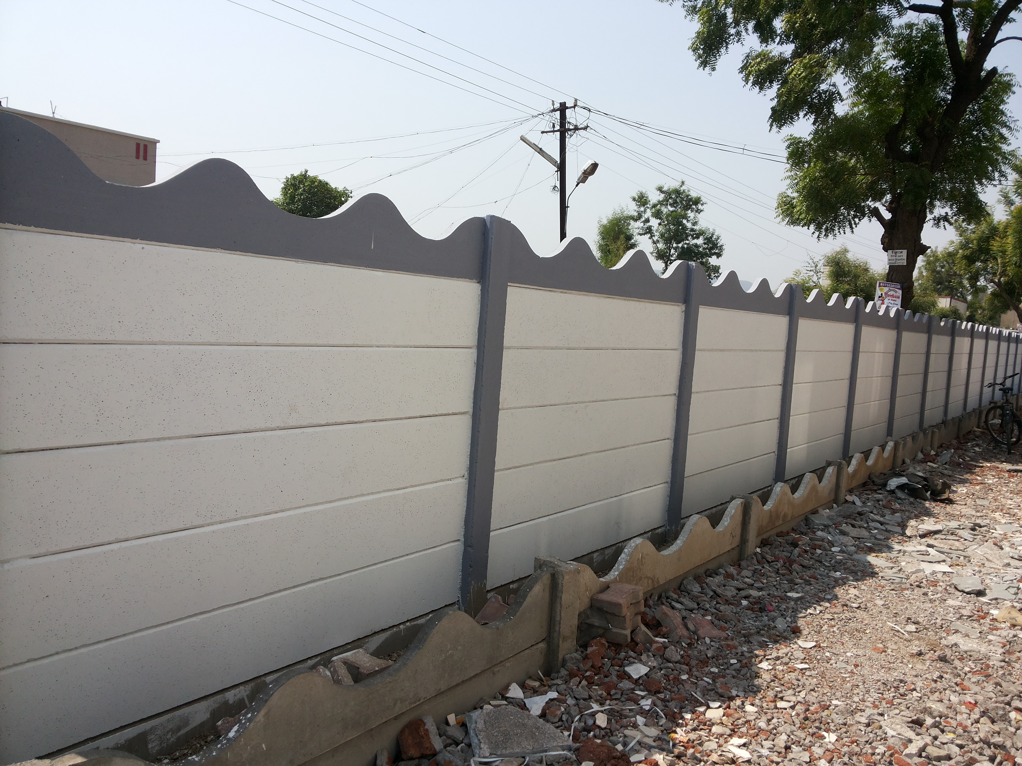 Compound wall designs for house in india precast for Compound wall design photos