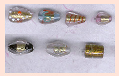 Handcrafted Silver Foil Beads