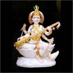 White Elegant Marble Saraswati