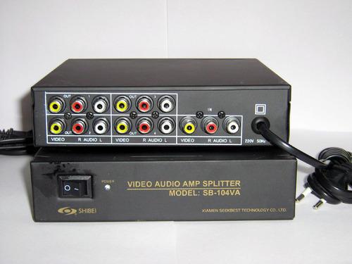 audio video switcher and splitter serai audio video splitter 4 way