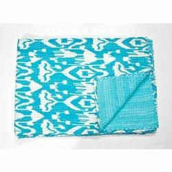 Blue Kantha Quilt