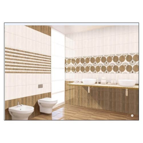 Wall Tiles For Kitchen In India: Brown Print Kitchen Wall Tiles
