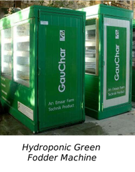 hydroponic green fodder machine
