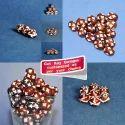Brown Carved Handmade Resin Beads