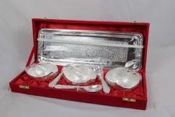 Silver Polish Tray with 3 Bowls