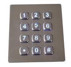 Industrial Metal Keyboard AAT-A88KP