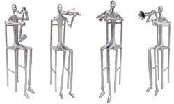 Aluminum Musician Sculpture