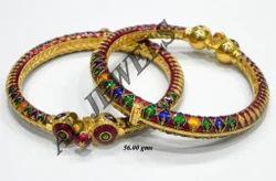 Meenakari Bangles Gold