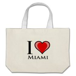 I Love Miami Canvas Bags