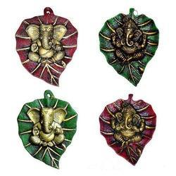 Leaf Ganesha - Patta Ganesha - While Metal - Many Colors