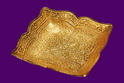 Gold Plated Square Design Plate