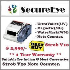 Money Counter Currency Cash Bill Note Counting Strob V 10 Ma