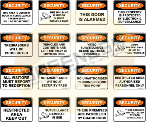 Security Safety Signs Safety Signs Mandatory