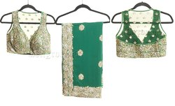 Marvellous Bottle Green Saree Blouse