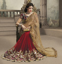 Net Embroidery Wedding Sarees