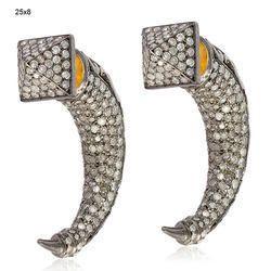 Diamond Tunnel Earrings Vintage Jewelry