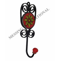 Ceramic & Black Iron Hooks