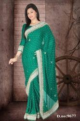 Embroidery Designer Stone Heavy Party Wear Saree