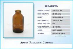 30 Ml Long Vial Amber