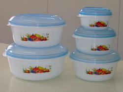 Plastic Storewell Container 5 Pcs