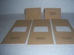 Handmade Paper Greeting Cards with Custom Logo Prints
