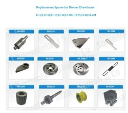 Replacement Spares For Rieteer & LMW Draw Frame