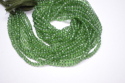 Green Mystic Quartz Faceted Beads