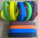 Debossed Silicone Wrist Bands