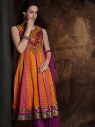 Readymade Anarkali Suit Multi Color