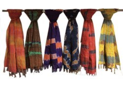 Kantha Scarf Cotton Tye Dye Printed Mix Colours