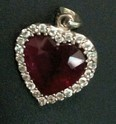Glass Filled Ruby Pendant