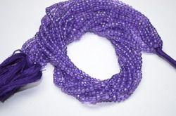 Amethyst Quartz Mystic Rondelle Beads