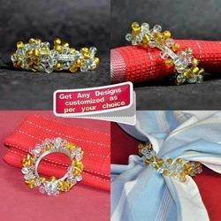 Fancy Colored Beaded Wired Handmade Napkin Ring