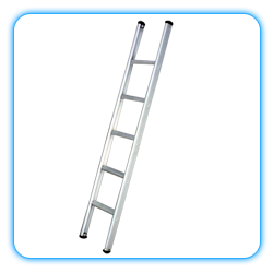 Wall Supported Aluminum Ladder