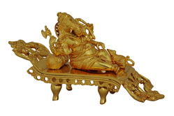 gold plated deewan ganesha