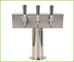 T-Type Square Triple Faucet Beer Tower