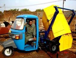 rickshaw container and placer