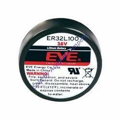 Eve Er32l100 Coin Battery 3.6v Lithium Battery