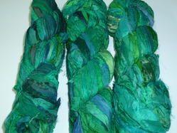 Custom Colored Sari Silk Ribbon Yarn for Knitters, Crafters