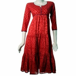 Cotton+Frock+Anarkali+Kurti