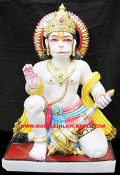 Decorative Marble Hanuman Statue