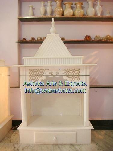 Marble Mandir - Carved White Marble Pooja Ghar Manufacturer from ...