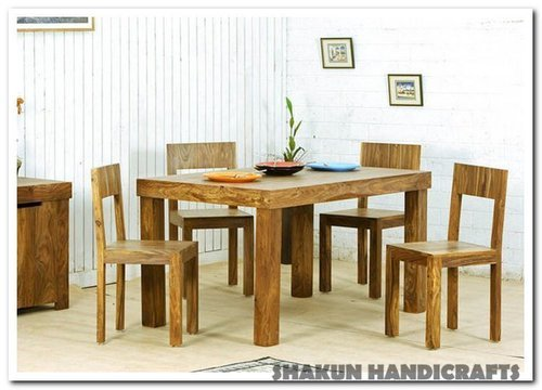 4 Seater Sheesham Wood Dining Table