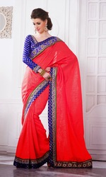 Georgette Net Party Wear Designer Sarees