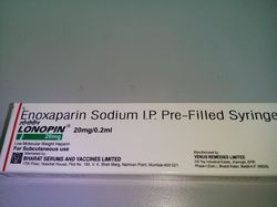 enoxaparin sodium pre filled syringe