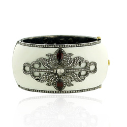 Enamel Openable Bangle Jewelry