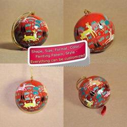 Paper Mache Holiday Decoration Christmas Bauble- Jungle Life
