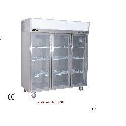 Refrigerator With Three Glass Door