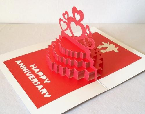 3d pop up greeting cards 3d pop up anniversary cake greeting card 3d pop up anniversary cake greeting card handmade best gift m4hsunfo