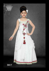 kids white ethnic indian gown